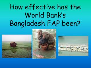 How effective has the World Bank's Bangladesh FAP been?