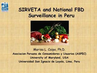 SIRVETA and National FBD Surveillance in Peru