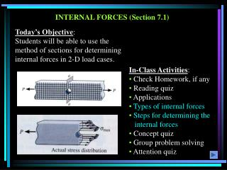 INTERNAL FORCES (Section 7.1)