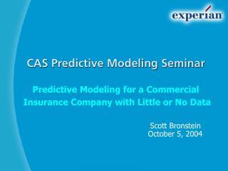 CAS Predictive Modeling Seminar