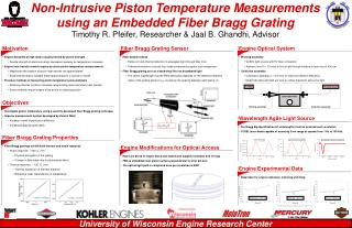 Non-Intrusive Piston Temperature Measurements using an Embedded Fiber Bragg Grating