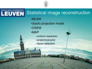 Statistical image reconstruction