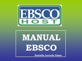 MANUAL EBSCO                   Daniella Lacerda  Rabelo
