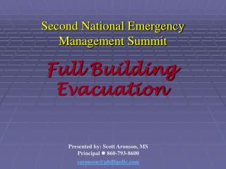 Second National Emergency Management Summit