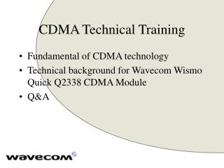 CDMA Technical Training