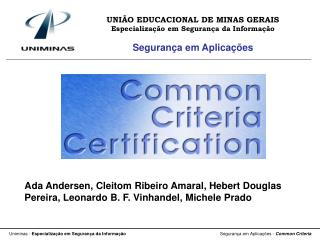 UNIÃO EDUCACIONAL DE MINAS GERAIS Especialização em Segurança da Informação