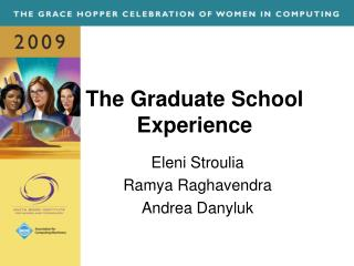 The Graduate School Experience