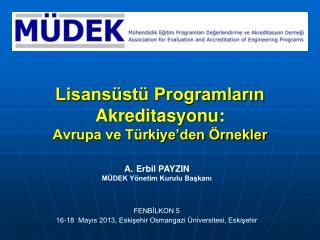 Lisansüstü Programların  Akreditasyonu: Avrupa ve Türkiye'den Örnekler