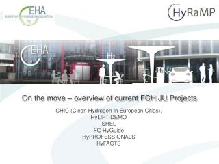 On the move – overview of current FCH JU Projects
