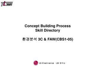 Concept Building Process Skill Directory 환경분석 3 C & FAW ( CBS1-05)
