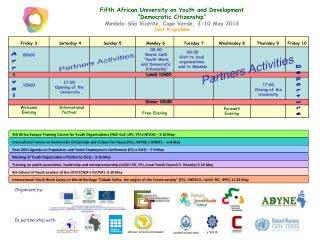 "Fifth African University on Youth and Development ""Democratic Citizenship"""