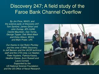 Discovery 247; A field study of the  Faroe Bank Channel Overflow