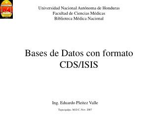 Bases de Datos con formato CDS/ISIS