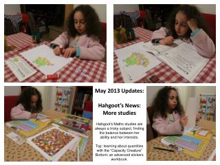 May 2013 Updates:  Hahgoot's News:   More studies