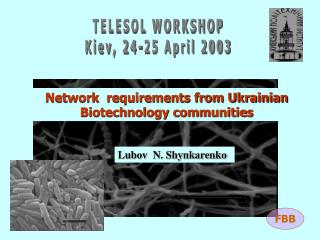 TELESOL WORKSHOP Kiev, 24-25 April 2003