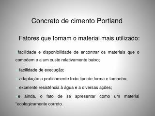 Concreto de cimento Portland
