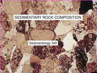 SEDIMENTARY ROCK COMPOSITION
