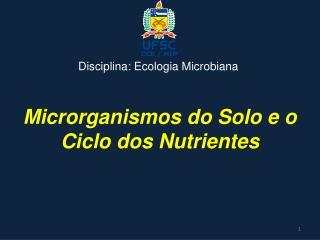 Microrganismos do Solo e o Ciclo dos Nutrientes