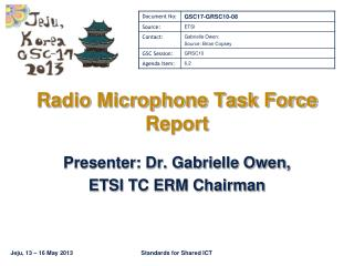 Radio Microphone Task Force Report