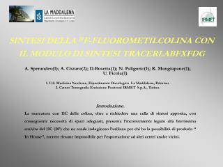SINTESI DELLA  18 F-FLUOROMETILCOLINA CON IL MODULO DI SINTESI TRACERLABFXFDG