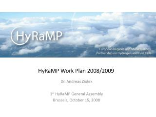 HyRaMP Work Plan 2008/2009