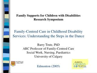 Family Supports for Children with Disabilities Research Symposium