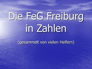 Die FeG Freiburg in Zahlen