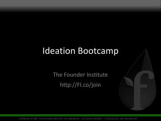 Ideation Bootcamp