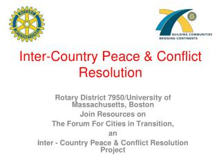 Inter-Country Peace & Conflict Resolution