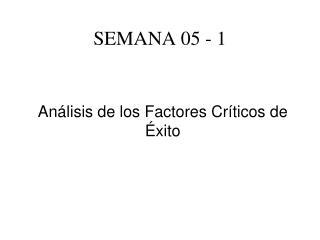 SEMANA 05 - 1