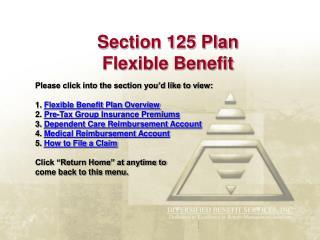 Section 125 Plan Flexible Benefit