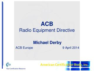 ACB Radio Equipment Directive
