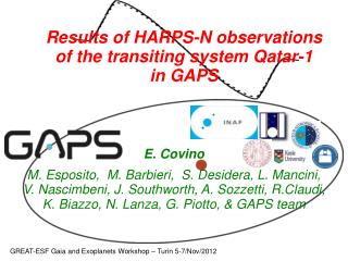Results of HARPS-N observations of the transiting system Qatar-1 in GAPS
