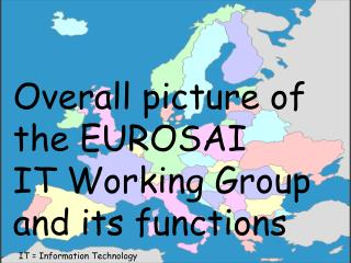 Overall picture of the EUROSAI  IT Working Group and its functions