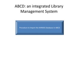 ABCD: an integrated Library Management System
