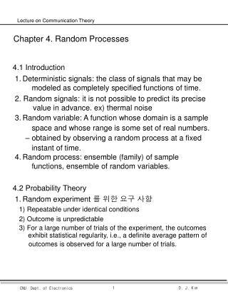Chapter 4. Random Processes