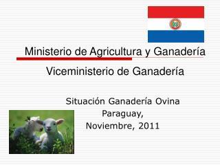 Situación Ganadería Ovina Paraguay, Noviembre, 2011