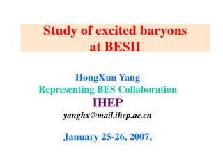 Study of excited baryons at BESII