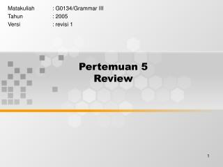 Pertemuan 5 Review