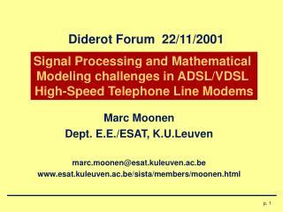 Diderot Forum  22/11/2001
