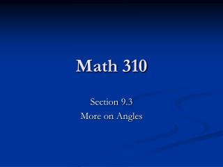 Math 310