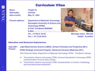 Education and Research Experiences