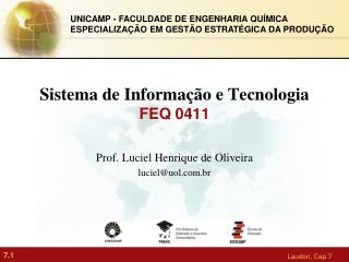 Sistema de Informação e Tecnologia FEQ 0411
