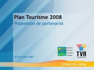 Plan Tourisme 2008