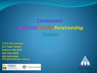 Centrecare Midland  Family  Relationship Centre