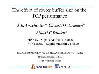 The effect of router buffer size on the TCP performance