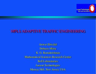 MPLS ADAPTIVE TRAFFIC ENGINEERING