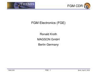 FGM  C DR