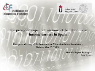 The pro-poor impact of an in-work benefit on low income earners in Spain