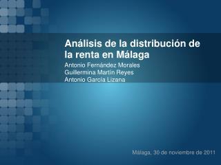 Análisis de la distribución de la renta en Málaga